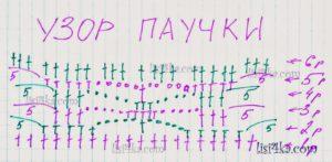 sxema-uzor-pauchki-topik-dvycvetnimi-kvadratami