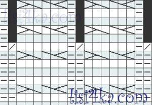 sxema-uzor-kosa-2-plate-zagadka-melanjebix-polos